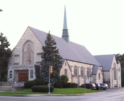 Building Outside of Saints Peter and Paul Lutheran Church in Riverside, Illiniois