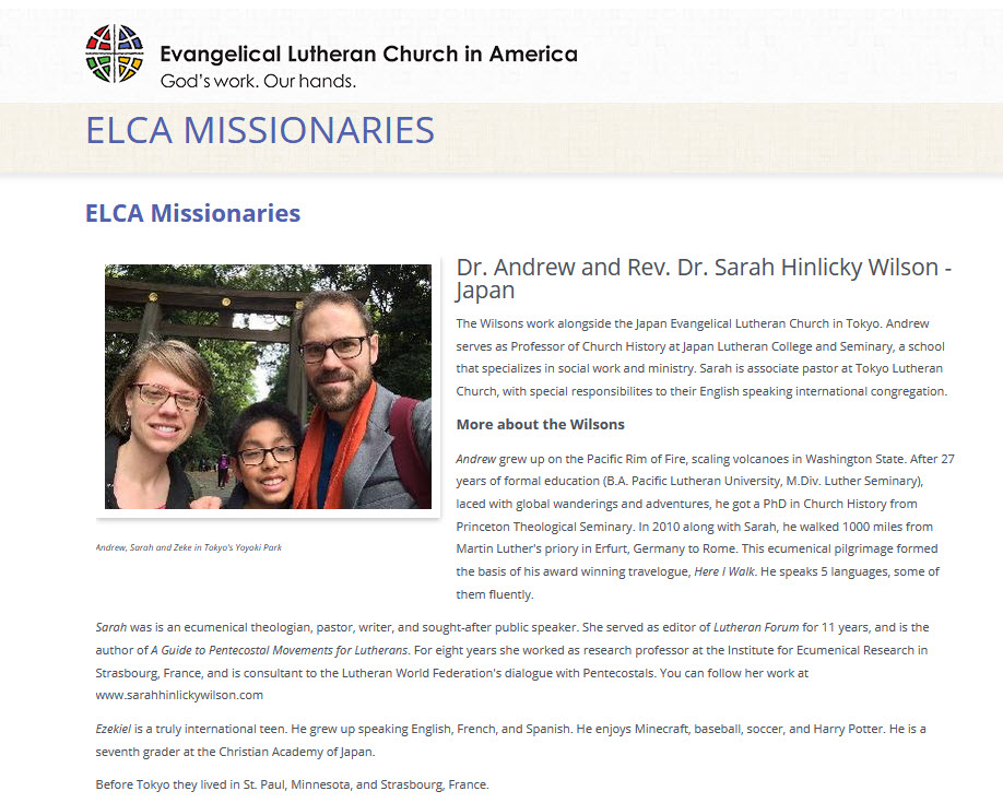 Saints Peter and Paul Lutheran Church Supports Missionaries in Japan